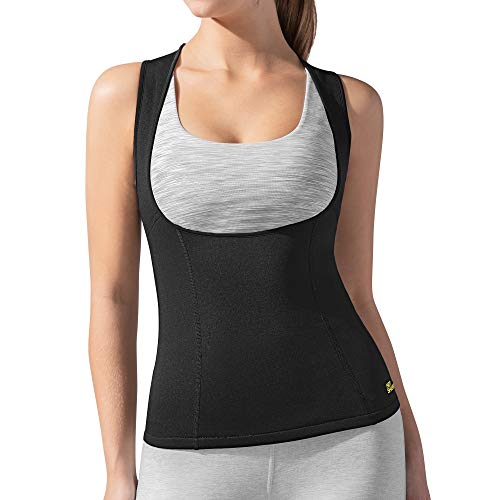 Hot Shapers Womens Cami Hot Belly Fat Burn Sauna Shirt. Seamless Slimming Body Shaper