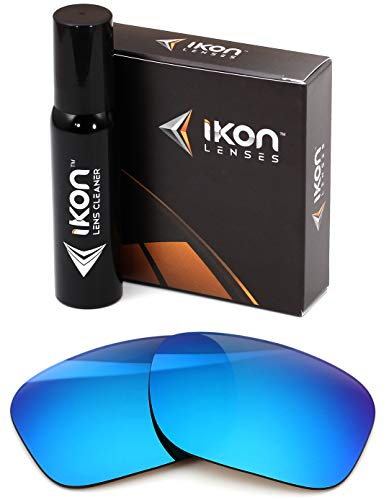 IKON LENSES Polarized Replacement for Costa Del Mar Reefton Sunglasses - Ice Blue (For Del Lens Sunglasses Costa Mar Replacement)