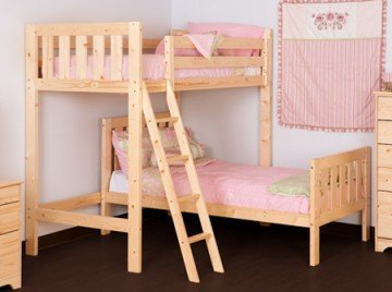 L SHAPED 3ft bunkbed - Wooden High sleeper loft bunk bed with single under bedLShaped Bunk Bed for kids - FAST DELIVERY by Strictly Beds Goodwood L Shaped Bunk