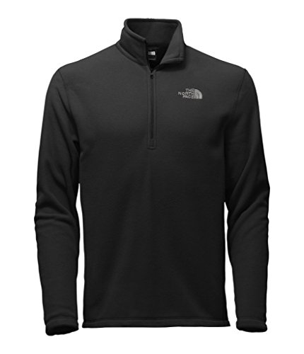 The North Face Men's TKA 100 Glacier 1/4 Zip TNF Black MD - Logo Fleece Jacket