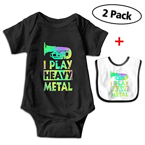 Robprint Tuba Band Funny Heavy Metal Unisex Baby One-Piece Short-Sleeve Onesies Bodysuits -