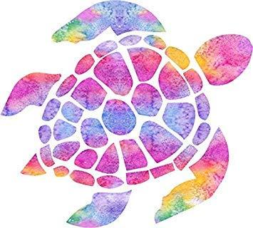 MR3Graphics Magnet Sea Turtle Watercolor Rainbow Magnetic Car Sticker Decal Bumper Magnet Vinyl 5