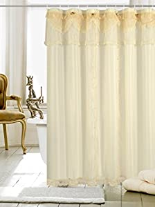 Violet Linen Luxurious And Elegant Shower Curtain 72 X Gold