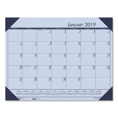 House of Doolittle 273 Earthscapes Weekly/Monthly Planner, 8-1/2 x 11, Black, 2018 (Ecotones Desk Monthly Pad Calendar)