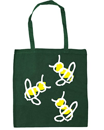 Bumblebee x38cm Gym Trio Bag Shopping litres HippoWarehouse Green 10 42cm Tote Bottle Beach ZqdWwZI8
