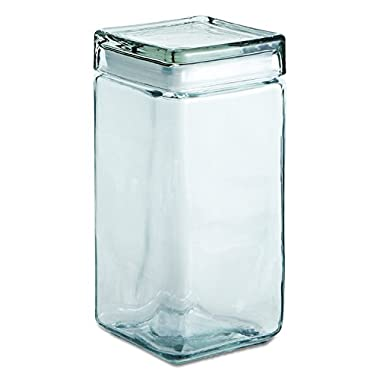 Anchor Hocking 2-Quart Stackable Jars with Glass Lids, Set of 4