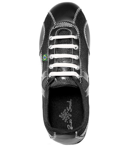 Dans-geïnspireerde Schoenen Van Rio Sole Dames - Zwart En Wit Stiksel
