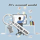 MAOFAED Accountant Gift Calculator Keychain It's