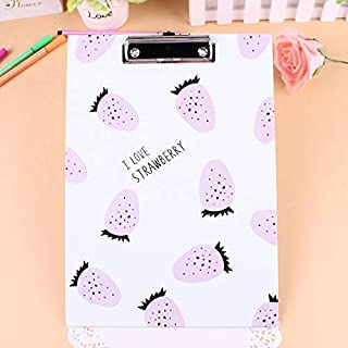 YLLY A4Fraise Papier Bloc-Notes Portable Document dossiers Maman Pad-White