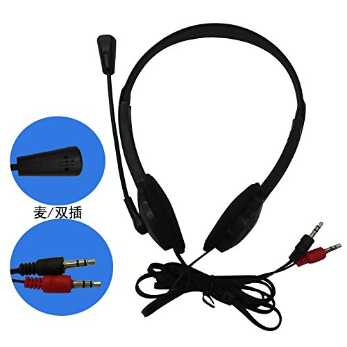 SODIAL 3.5mm Stereo Headset Earphone Headphone with Microphone for Laptop by SODIAL (Image #3)