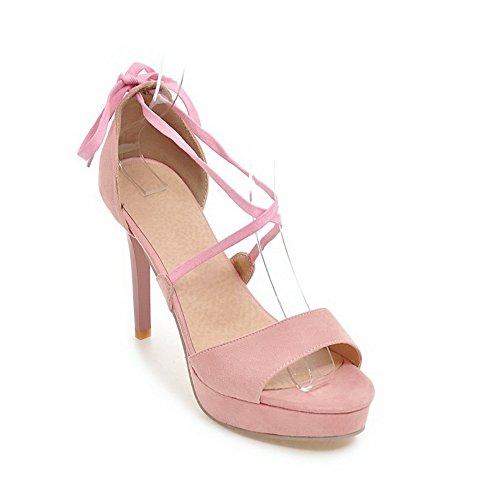 BalaMasa mit hohem Sandalen Sandalen Pink Huarache Absatz Urethan ASL04808 Damen FqBFwErv