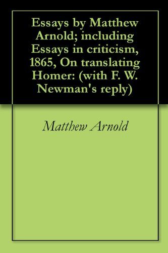 Amazoncom Essays By Matthew Arnold Including Essays In Criticism  Essays By Matthew Arnold Including Essays In Criticism  On  Translating Homer Thesis Statement Descriptive Essay also How To Write Science Essay  Take My Class For Me