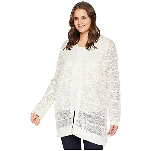 (カルバンクライン) Calvin Klein Plus レディース トップス カーディガン Plus Size Long Sleeve Lurex Cardigan [並行輸入品]