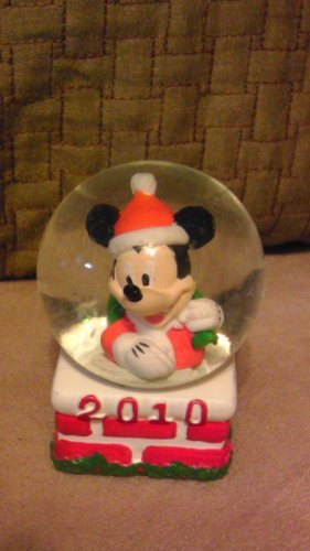 Mickey Mouse JcPenney Snowglobe Waterglobe Globe Christmas Holiday 2010 (Jcpenney Mickey Mouse Snow Globes)