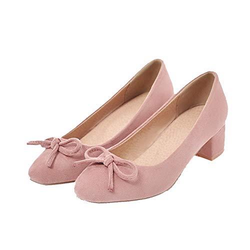Flats FBUIDD006346 Tirare Basso Rosa Ballet Plastica Donna Tacco AllhqFashion Puro nT0wxq7BCB