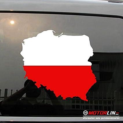 Amazon.com: 3S MOTORLINE Map Flag of Poland Decal Sticker Car Vinyl ...