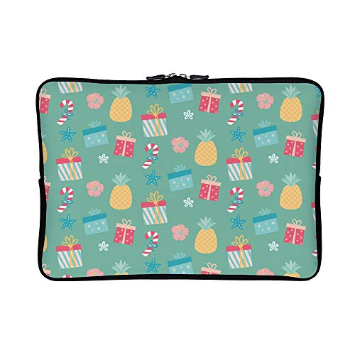 (DKISEE Abstract Flamingo 04 Neoprene Laptop Sleeve Case Waterproof Sleeve Case Cover Bag for)