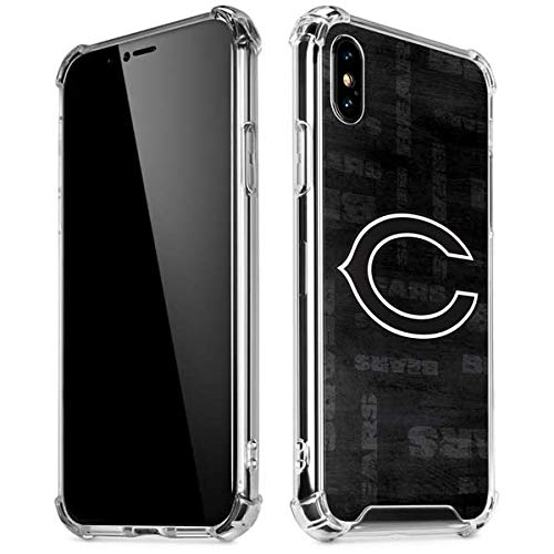 Skinit Chicago Bears Black & White iPhone Xs Max Clear Case - Officially Licensed NFL Phone Case Clear - Transparent iPhone Xs Max Cover