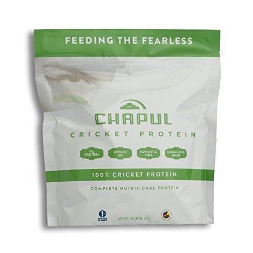 - Chapul Cricket Protein Powder (Pure, 1 Pound) - 100% Cricket Flour, 25g Protein per Serving, High in Prebiotic Fiber, Sugar Free, 0 Net Carbs, Keto-Friendly