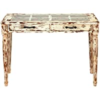 Deco 79 87411 Wood Glass Console Table, 40 x 29