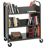 Bretford - V336-RN5 - Bretford Duro V336-RN5 Book Cart - 3 Shelf - Round Handle - 4 Casters - Steel - 36 Width x 18 Depth x 43 Height - Raven