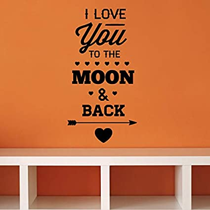Amazon Com I Love You To The Moon Back Valentines Day Quote Wall