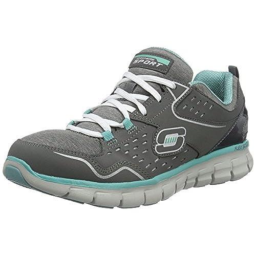 ad09c075bad5 Skechers Synergy Modern Movement Womens Sneakers Charcoal Aqua 7 60 ...