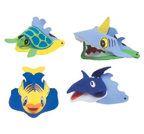 Rhode Island Novelty Sea Animal Visors, Ocean Creature Hat, Party Favor ()