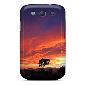 High Grade WilliamMorrisNelson Flexible pc Case For Galaxy S3 - The Sky Is Burning