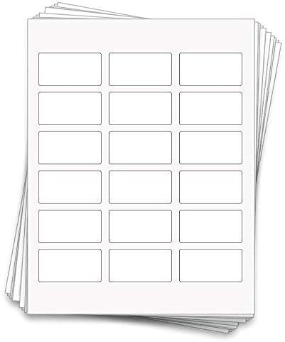 90 Professional Sheet Labels for 10ml Glass or Roller Bottles, 2.375 x 1.25 inches, Weatherproof and Waterproof White