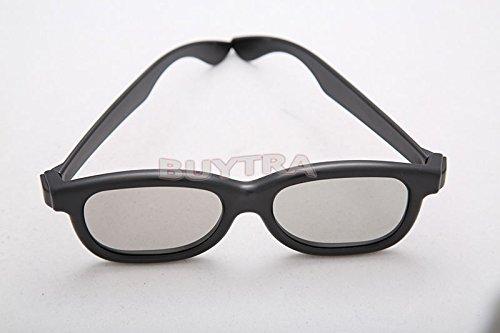 Amazing-Trading 3d gafas negro Circular película DVD LCD teatro polarizadas Video Game