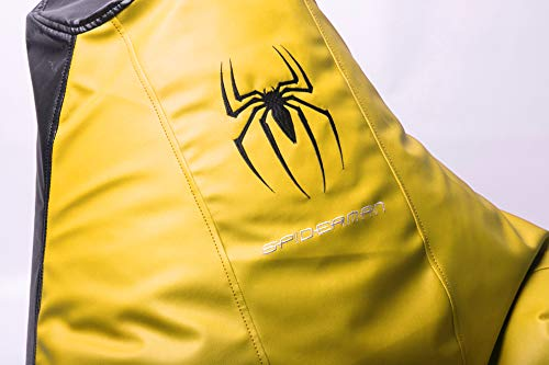 Price comparison product image Beanbag Spiderman Comics Marvel Comfortable Kids Adult Game Outdoor Indoor Lounge Chair Cover (Without Beans) Yellow