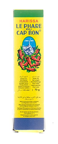 Le Phare du Cap Bon Harissa red chili pepper paste 2.47 ounces (70 grams)