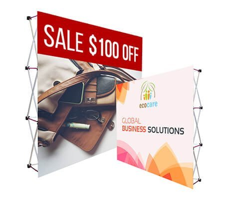Fabric Pop up Straight Display- Hardware only .Fabric pop-up Display Provides a Vibrant, Tightly Woven Visual That is a Great Alternative to Traditional Backdrop Displays (8' X 8') Bannerbuzz
