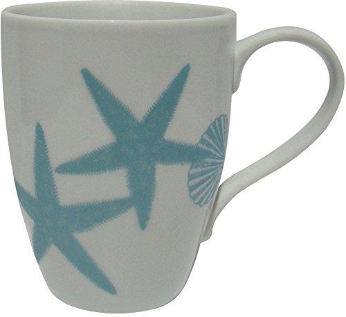 222 Fifth Coastal Life Blue Shells Mug 14 Ounce