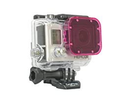 Magenta Cube Acrylic Filter-Green Water Color Correction-Hero3 Black, Silver, White Compatible