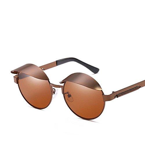 Gafas Primavera de Espejo Regalos Gafas Sol Anti F creativos de Marea Hombre Espejo Pata ultravioletas Metal Redondas de Sol y Sol Axiba de Mujer dZPW15qwd