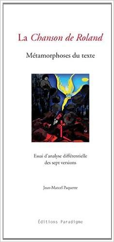 Book La chanson de Roland, métamorphoses du texte