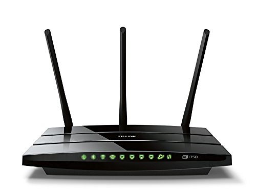 TP-Link AC1750 Dual Band Wireless AC Gigabit Router, 2.4GHz 450Mbps + 5Ghz 1350Mbps, 1 USB 2.0 Ports, IPv6, Guest Network, WPS (Archer C7)