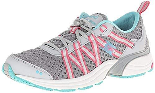 Ryka Women's Hydro Sport Water Shoe-W, Silver Cloud/Cool Mist Grey/Winter Blue/Pink, 10 M US