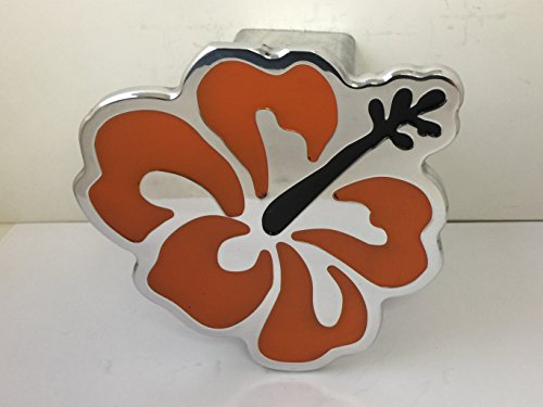 Hibiscus Hitch Cover Flower Hitchcover ORANGE ()