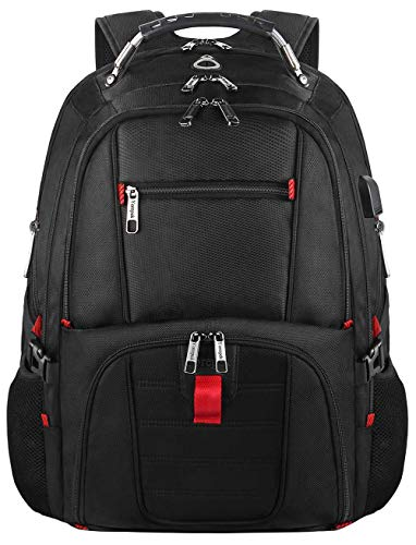 College Backpack, TSA Busines Laptop Backpack for Men Women, Water Resistant Durable Student Laptop Bookbag, Unisex Casual Big School Student Backpack with Charging Port Fit 15.6 Inch Notebook - Black by YOREPEK