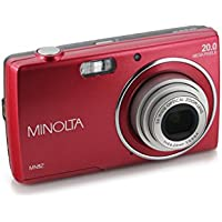 Minolta 20 Mega Pixels Digital Camera, 5x Optical Zoom & HD Video with 2.7 LCD, Red (MN5Z-R)