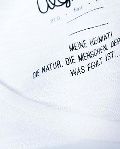 Degree Clothing femmes T-shirt–Bayern la Mer–Blanc en coton bio équitable