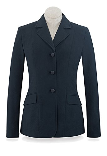 RJ Classics Black Herringbone Soft Shell Monterey Show Coat 8 Long