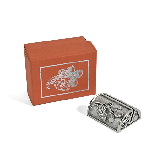 Vilmain Three Acorns Pewter Photograph Stand with Gift Box