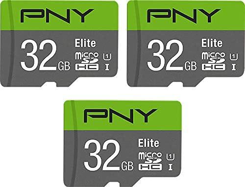 PNY 32GB Elite Class 10 U1 MicroSDHC Flash Memory Card 3-Pack, 32GB 3-Pack