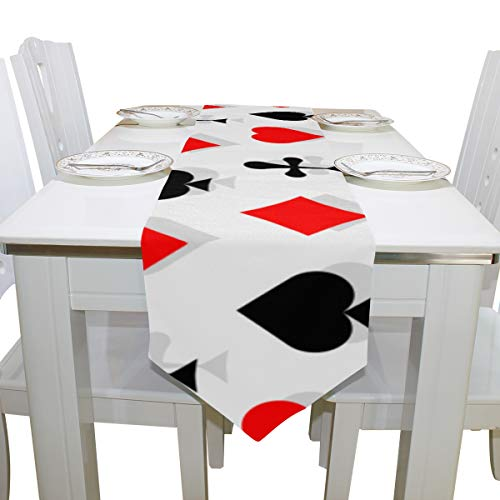 (Liaosax Open Table Cloth Poker Paper Number Games Cloth Cover Table Runner Tablecloth Kitchen Dining Room Home Decor Indoor 13x90 Inch Fold Table Cloth)