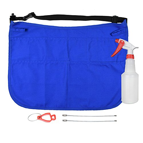 Professional Speed Cleaning Apron with 7 Pockets, Glove Holder, Duster Holder, & 16oz Spray Bottle – Speeds Up Cleaning, Saves Time