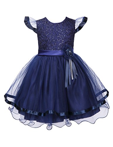 Colorful House Girls' Embroidery Flower Formal Party Princess Bridal Dress